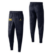 Jordan University of Michigan Basketball Navy ''Brushstroke'' Spotlight Warm-Up Pant