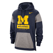 Nike University of Michigan Navy/ Gray Fan Hooded Sweatshirt