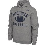 Jordan University of Michigan Football Gray Phys. Ed. Hooded Sweatshirt