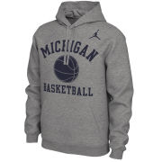 Jordan University of Michigan Basketball Gray Phys. Ed. Hooded Sweatshirt