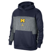Jordan University of Michigan Basketball Navy/Gray Spotlight Performance Hooded Sweatshirt