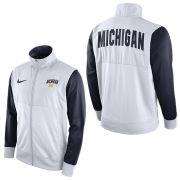 Nike University of Michigan White/ Navy Track Jacket