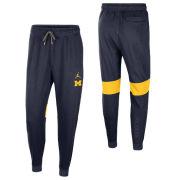 Jordan University of Michigan Football Navy Player Practice Fleece Pant