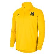 Jordan University of Michigan Football Maize Coaches Sideline Dri-FIT 1/2 Zip Pullover