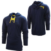 Jordan University of Michigan Football Navy Player Long Sleeve Hooded Tee