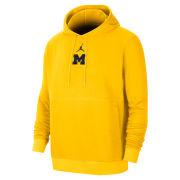 Jordan University of Michigan Football Maize Practice Hooded Sweatshirt