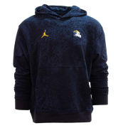 Jordan University of Michigan Football Navy Player Travel Hooded Sweatshirt