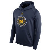 Jordan University of Michigan Basketball Navy Circuit Performance Hooded Sweatshirt