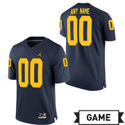 Jordan University of Michigan Football Navy Custom Game Jersey