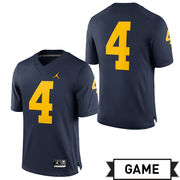 Jordan University of Michigan Football Navy #4 Game Jersey