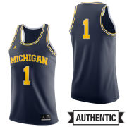 0d187228bbd Jordan University of Michigan Basketball Navy Authentic  1 Jersey
