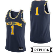 Jordan University of Michigan Basketball Navy Replica #1 Jersey