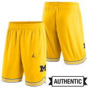 Jordan University of Michigan Basketball Yellow Authentic Shorts
