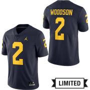 Jordan University of Michigan Football Navy Charles Woodson #2 Limited Jersey