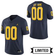 Jordan University of Michigan Football Navy Custom Limited Jersey