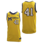 Jordan University of Michigan Basketball Maize On-Court Authentic 1989 Throwback Jersey