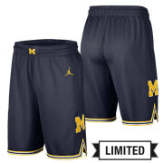 Jordan University of Michigan Basketball Navy Limited Shorts