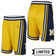 Jordan University of Michigan Basketball Maize 1989 Throwback Limited Shorts
