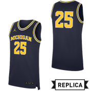 Jordan University of Michigan Basketball Navy Replica #25 Jersey