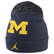 Jordan University of Michigan Football Navy Sideline Cuffed Knit Hat