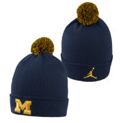 Jordan University of Michigan Football Capsule Collection Cuffed Pom Knit Hat