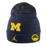 Jordan University of Michigan Football ''Signing of the Stars'' Navy Sideline Knit Cuffed Hat
