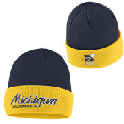 on sale eee57 6e72a Nike University of Michigan Sport Specialties Throwback Cuffed Knit Hat