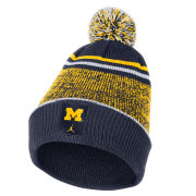 Jordan University of Michigan Football Sideline Cuffed Pom Knit Hat