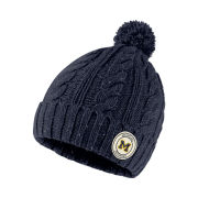 Nike University of Michigan Women's Navy Cuffed Knit Hat with Removable Pom