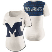 Nike University of Michigan Ladies Triblend Namplate Boyfriend Tee