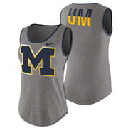 Nike University of Michigan Ladies Heather Gray Triblend Standard Tank Top
