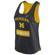 Nike University of Michigan Ladies Navy Gear Up Mesh Tank Top
