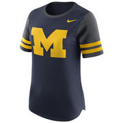Nike University of Michigan Ladies Navy Gear Up Modern Fan Tee