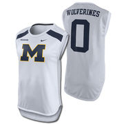 Nike University of Michigan Ladies White Mascot Dri-FIT Mesh Tank Top