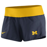Nike University of Michigan Ladies Navy Gear Up Crew Dri-FIT Shorts