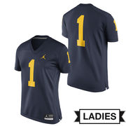 Jordan University of Michigan Ladies Navy #1 Game Jersey