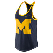 Nike University of Michigan Women's Navy Triblend Dri-FIT Tank Top