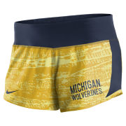 Nike University of Michigan Women's Yellow Dri-FIT Crew Short