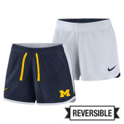 Nike University of Michigan Women's Navy/ White Reversible Dri-FIT Touch Shorts