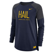 Nike University of Michigan Women's Navy/ Charcoal Gray Dri-FIT Long Sleeve Tailgate Tee