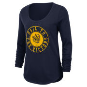 Nike University of Michigan Women's Navy College Vault Wolverine Long Sleeve Heavyweight Tee