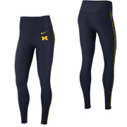 Nike University of Michigan Women's Navy Dri-FIT Core Power Training Tights