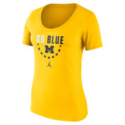 Jordan University of Michigan Basketball Women's Maize Team Issued Tee