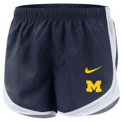 Nike University of Michigan Women's Navy Tempo Dri-FIT Shorts