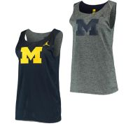 Jordan University of Michigan Women's Gray/ Navy Reversible Mesh Tank Top