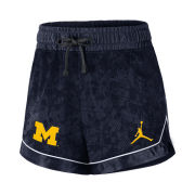 Jordan University of Michigan Basketball Women's Navy DNA Mesh Shorts