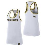 Nike University of Michigan Women's White Dri-FIT Cotton Racerback Tank Top