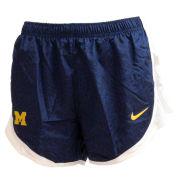 Nike University of Michigan Women's Navy Dri-FIT Tempo Shorts