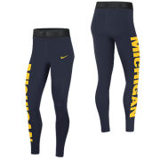 Nike University of Michigan Women's Navy Tights