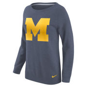 Nike University of Michigan Women's Heather Navy Boyfriend Champion Crewneck Sweatshirt
